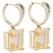 """Reflections"" Citrin Earrings"