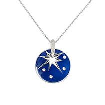 Compass Blue Pendant