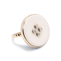 """Reflections"" Button ring"