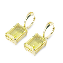""" Reflections"" Lemon Quartz Earring"