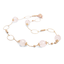 Rose quartz chain